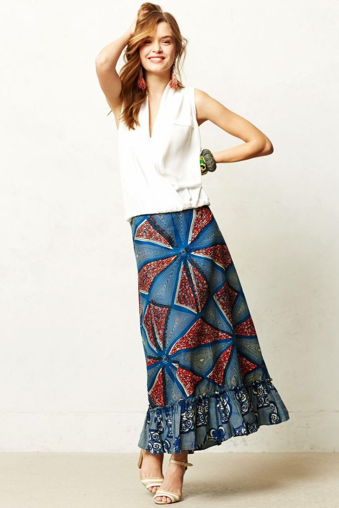 Anthro - Legend & Song Dutch Wax Maxi Skirt - $178