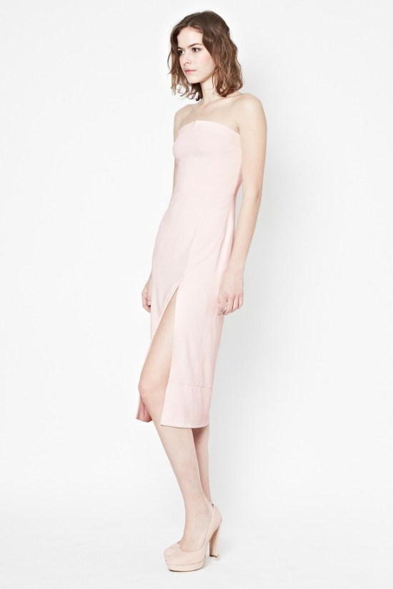 French Connection - San Diego Drape Strapless Dress - $288