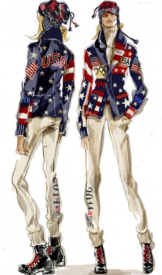 Sketch - Ralph Lauren 2014 Olympics Fashion