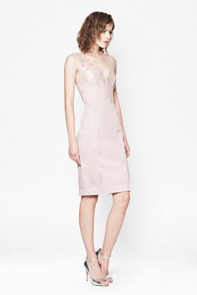 FC - Hermione Beads V-Neck Dress - $228