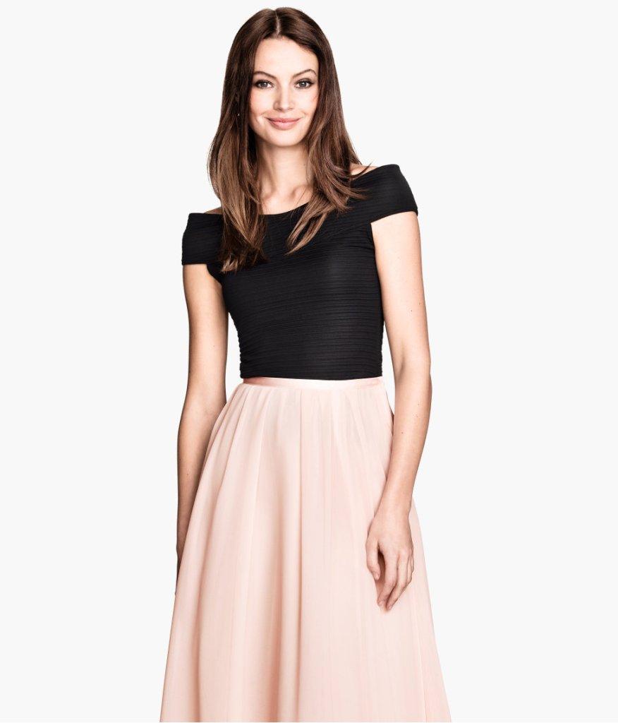 H&M Black Off-the-Shoulder Top - $34.95