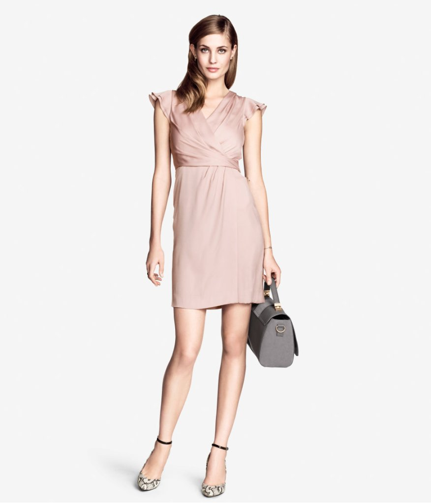 H&M Blush Satin Dress - $34.95