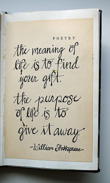 The Meaning of Life - Shakespeare