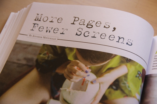 More pages, fewer screens