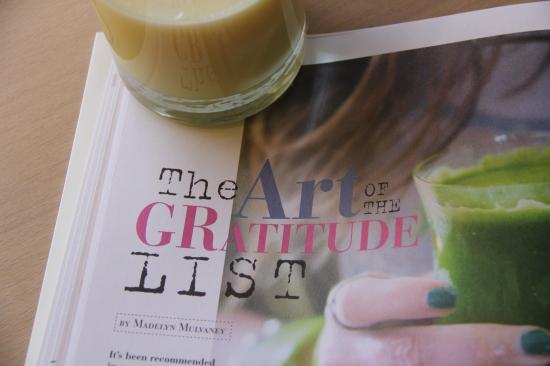 The art of the gratitude list